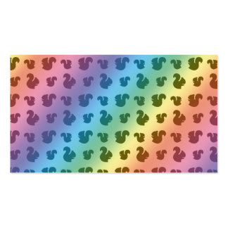 Rainbow squirrel pattern Double-Sided standard business cards (Pack of 100)