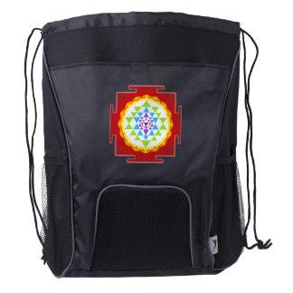 Rainbow Sri Yantra/Mandala/Chakra Clearing Drawstring Backpack