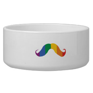 Rainbow Stache png Dog Food Bowls