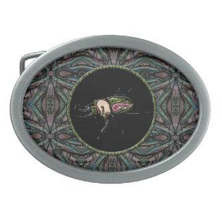 Rainbow Stag Beetle Oval Belt Buckle