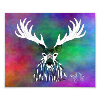 Rainbow Stag Print Photographic Print