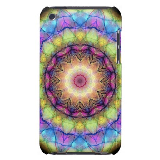 Rainbow stained Glass Barely There iPod Cover
