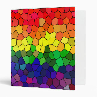 Rainbow Stained Glass folder