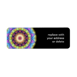 Rainbow stained Glass Return Address Label
