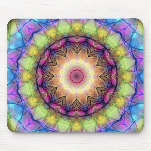 Rainbow stained Glass Mouse Pad