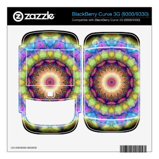 rainbow stained glass BlackBerry curve 3G decal