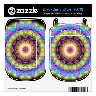 rainbow stained glass skin for BlackBerry