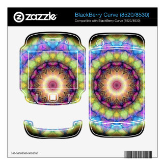 rainbow stained glass decals for BlackBerry