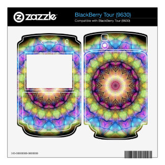 rainbow stained glass decal for BlackBerry