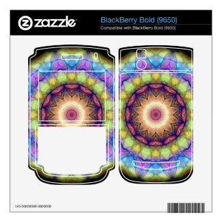 rainbow stained glass BlackBerry bold decals