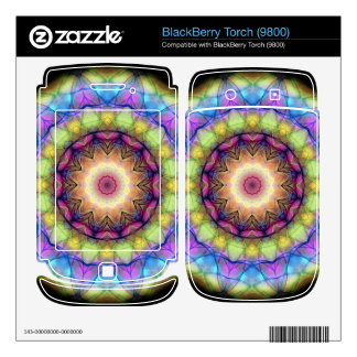 rainbow stained glass BlackBerry torch decals
