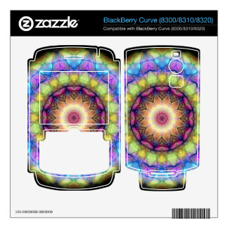 rainbow stained glass BlackBerry decals