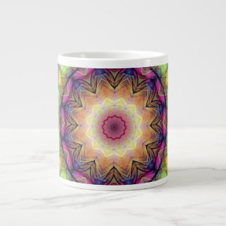 Rainbow stained Glass Extra Large Mugs