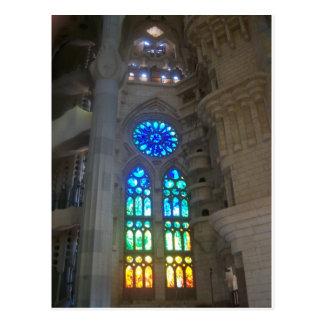 Rainbow Stained Glass Windows Postcard