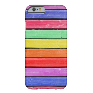 Rainbow Stained Wood iPhone 6/6s Barely There iPhone 6 Case