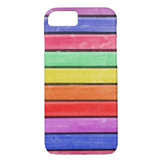 Rainbow Stained Wood iPhone 7 iPhone 7 Case