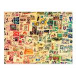 Rainbow Stamps Postcard