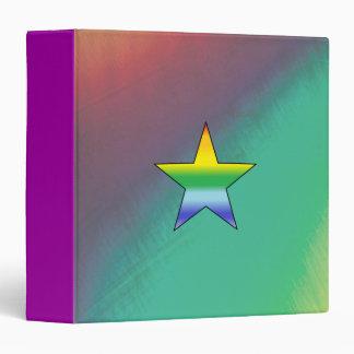 "Rainbow Star - 1.5"" Binder"