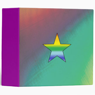 "Rainbow Star - 2"" Binder"