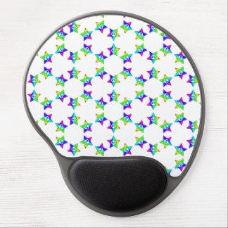 Rainbow Star and Skulls gel mouse pad