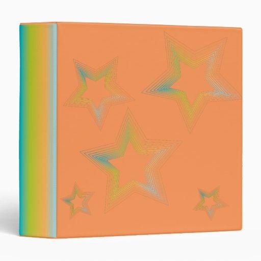 Rainbow Star Avery Binder