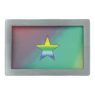 Rainbow Star Belt Buckles