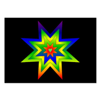 Rainbow Star Large Business Cards (Pack Of 100)