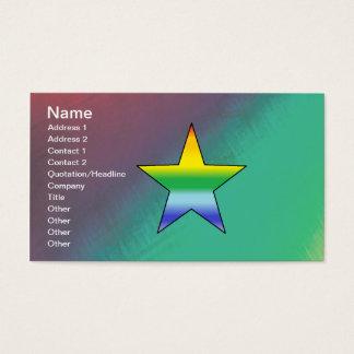 Rainbow Star Business Card