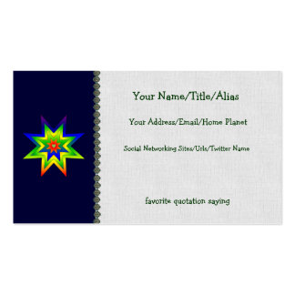 Rainbow Star Double-Sided Standard Business Cards (Pack Of 100)