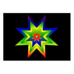 Rainbow Star Business Card Templates