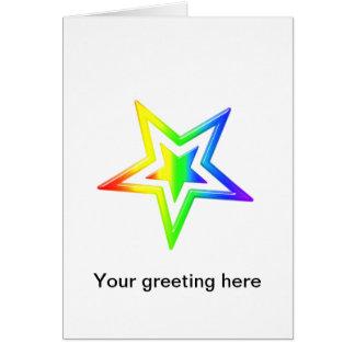 Rainbow Star Card