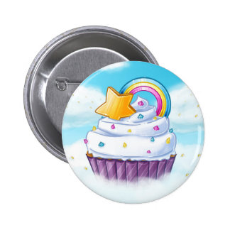 Rainbow star cupcake in the clouds pin