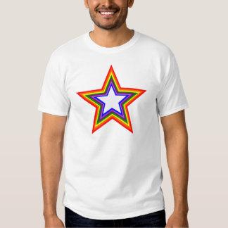 Rainbow Star Design Tee Shirt