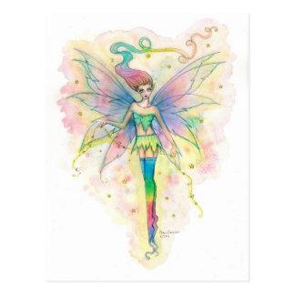Rainbow Star Fairy Fantasy Art Postcard
