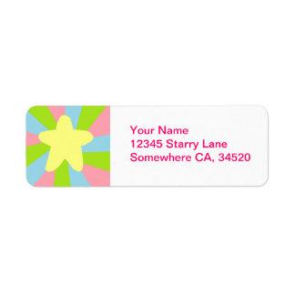 Rainbow Star Label