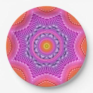 Rainbow Star Mandala Paper Plate