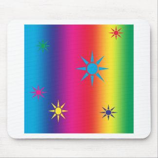 rainbow-star mouse pad