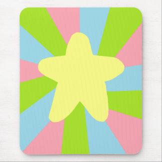 Rainbow Star Mouse Pad
