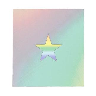 Rainbow Star Notepad