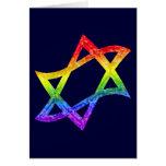 Rainbow Star of David Cards