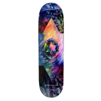 Rainbow Star of David Skateboard