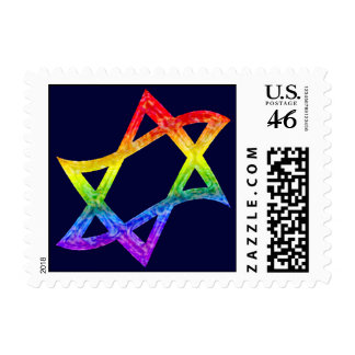 Rainbow Star of David Stamps