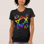 Rainbow Star of David Women's Dark Shirts