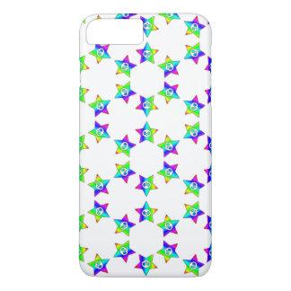 Rainbow Star Skulls 2 iPhone 7 Plus Case