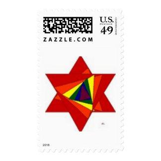 Rainbow Star Stamp