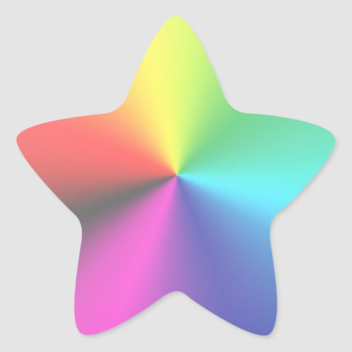 Rainbow Star Rainbow star sticker
