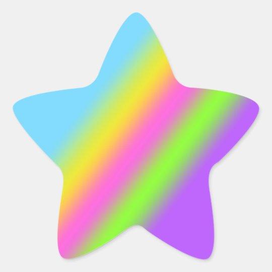 Rainbow Star Stickers Zazzle Com