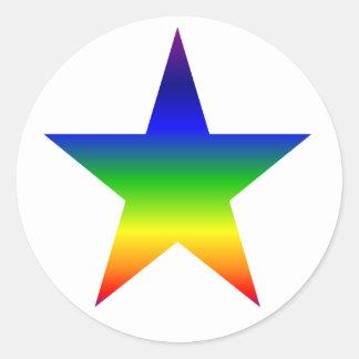 Rainbow star stickers sheet