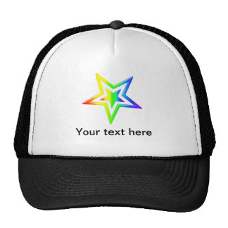 Rainbow Star Trucker Hat