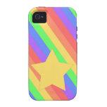 Rainbow Star Vibe iPhone 4 Cover